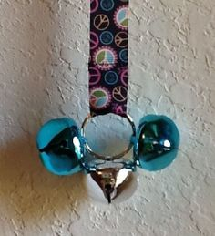 Door Bells For Your Doggie Peace Sign by CanineKingdomOK on Etsy, $13.99