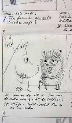 Original Moomins Drawing by Tove Jansson.