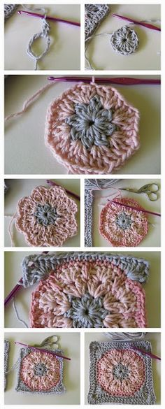 - Granny square  African Flower Step by step to make these beautiful squares!