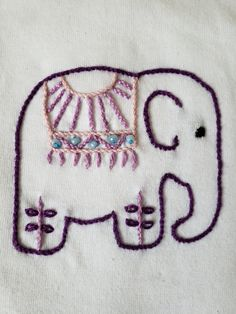 Hand Embroidery Art, Indian Embroidery, Cross Stitch Embroidery, Embroidery Patterns, Elephant Outline, Elephant Art, Indian Elephant, Elephants, Brushes