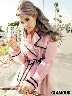 love, love, love this Red Valentino trench! Kelly Osbourne Shows Off Winter's Coolest Hair and Makeup Looks