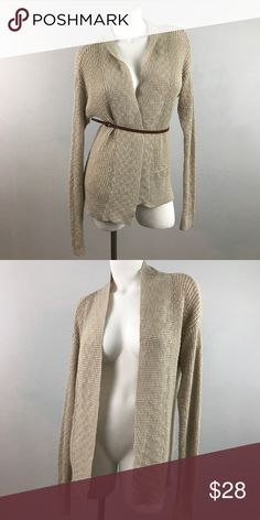 Sparkle & Fade Gold Woven Shimmer Cardigan Shrug Great condition. Sparkle & Fade Sweaters Cardigans