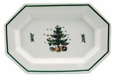 Nikko Christmas Dinnerware  sc 1 st  Pinterest & NIKKO CHRISTMASTIME 9u201d OCTAGON VEGETABLE SERVING BOWL Pattern # 259 ...