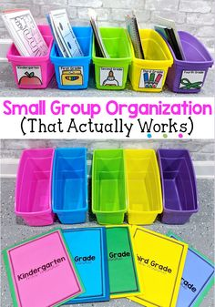 Small Group Organization for Reading Intervention Teachers (and Classroom Teachers too!)