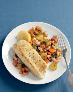 Halibut with Warm Bean Hash Recipe | Cooking | How To | Martha Stewart Recipes