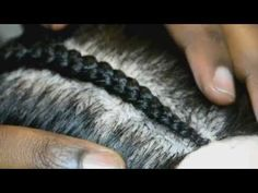 How to Cornrow using Ghana Braid technique for graduated effect - YouTube