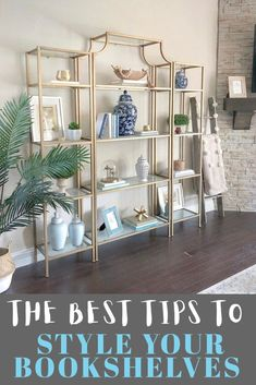 Bookshelf Styling ideas with books and decor, including step by step bookshelf design and organization tips to give you inspiration to get started and DIY with your own bookshelf makeover! #bookshelfstyling
