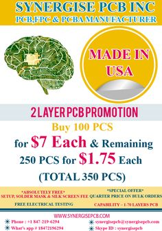 A quarter price of $2.25 for the additional 150 PCS Excellent Quality Professional Support On Time Delivery 24/7 Support http://www.synergisepcb.com/shop/