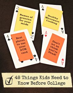 48 Things Kids Should Know Before College from Edventures with Kids