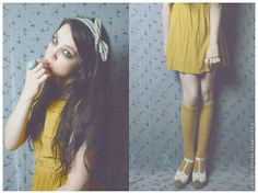 Miss Mustard, in The Library (by Natanya Waybourne) http://lookbook.nu/look/3685923-Miss-Mustard-in-The-Library