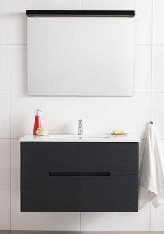 no - Baderom, våtrom & bolig Bathroom Vanity Cabinets, Bathroom Lighting, Mirror, Inspiration, Furniture, Home Decor, Bathroom Ideas, Diy, Crafts