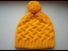 Как связать <u>вязание шапки с большими косами видео</u> шапку крючком. Crochet hat with subtitles - YouTube