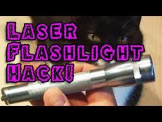 DIYer Kipkay extracts the laser from a DVD burner and mounts it in a small flashlight to create a handheld laser burner that can light matches and burst balloons..