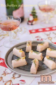 Mini buchettes saumon - citron /citron yuzu sur pain de mie complet toasté - Macaronette et cie