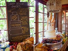 Great idea to have a board describing the cheeses in your cheese cake!