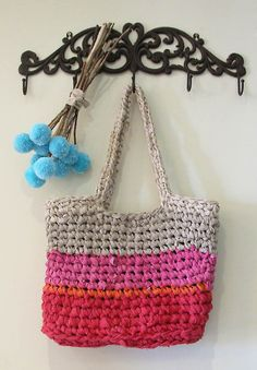 Chunky Crocheted Rag Bag From Sheets!!! Duh! Doing this with the sheets I have now.
