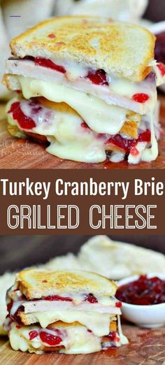 Turkey Cranberry Brie Grilled Cheese - Will Cook For Smiles - #cranberrysauce Cranberry Recipes Thanksgiving, Thanksgiving Leftovers, Thanksgiving Drinks, Leftover Turkey Recipes, Leftovers Recipes, Vol Au Vent, Tea Sandwiches, Queso Brie, Queso Fundido