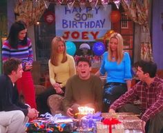 """Friends - Joey's Birthday: """"Why God, why? Friends Tv Show, Tv: Friends, Serie Friends, Friends Cast, Friends Moments, Friends Forever, Friends Trivia, Happy 30th Birthday, Friend Birthday"""