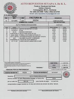 tipos de factura la factura pinterest tipos de documentos