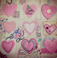Heart quilt - Gathering Dust