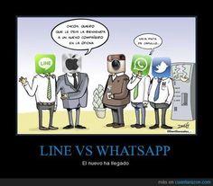 #LineWhatssap para los #MarketerosNocturnos Line y WhatsApp , dos aplicaciones de mensajería instantánea que han superado sus límites y ahora son firmes candidatos para cualquier Plan de Marketing
