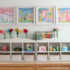 Someday I'll have a house with an awesome playroom like these :) playroom storage for kids 35 Awesome Kids Playroom Ideas