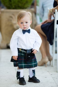 If you've ever wondered how adorable a baby in a kilt would be, you're about to get your answer, and I'll give you a hint. it doesn't even fall on a normal cuteness scale. Way too adorable. The kilt. Cool Baby, Baby Kind, Celtic Wedding, Irish Wedding, Kilt Wedding, Wedding Rings, Formal Wedding, Wedding Wear, Tartan Wedding