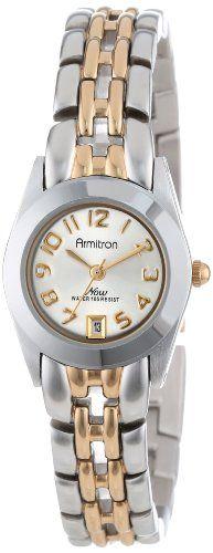 Armitron Women's 752435 NOW Two-Tone Easy to Read Round Dial Dress Watch Armitron http://www.amazon.com/dp/B000K399RW/ref=cm_sw_r_pi_dp_B0Qoub1H1N3SN