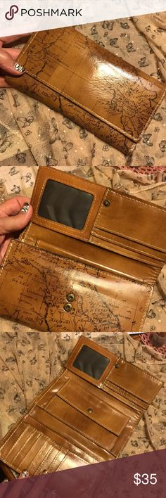 """Gorgeous Wallet Old world charm! Carried about 2 months. Non smoke home. Gorgeous!  Can be yours tomorrow. 8"""" long. Opens to almost 12"""" shows all features in the pictures. Patricia Nash Bags Clutches & Wristlets"""
