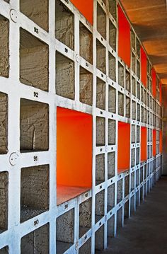 http://www.dezeen.com/2015/07/30/san-cataldo-cemetery-modena-italy-aldo-rossi-postmodernism/  San Cataldo Cemetery by Aldo Rossi