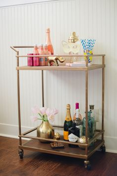 Target Bar Cart Styled 2 Ways / Glitter Guide