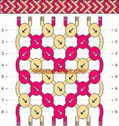 Normal Pattern added by - Freundschaftsarmbänder - Friendship String Bracelet Patterns, Diy Bracelets Patterns, Diy Bracelets Easy, Thread Bracelets, Embroidery Bracelets, Macrame Bracelets, Macrame Knots, Loom Bracelets, Micro Macrame