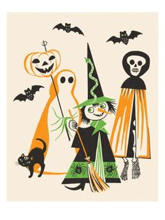 Trick or Treaters Print by Pop Ink - CSA Images at Art.com