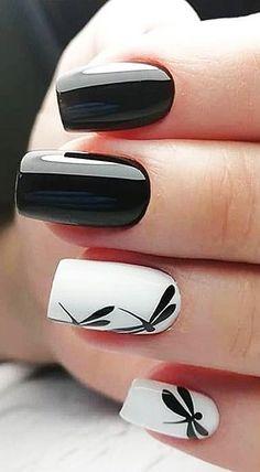 Matte Nail Art, Matte Black Nails, Black Nail Art, Blue Nails, Acrylic Nails, Black Polish, Black Art, Black White Nails, Pastel Nails