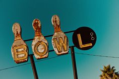 Bowling Ball and Pins Neon Sign