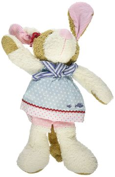 Kathe Kruse - Dolce Dog Play Animal Plush Toy. Smiling, fuzzy dolce dog play animal from Kathe Kruse will be soon your child's favorite companion at nap time and play time. The cute, soft-stuffed dog has floppy legs, long ears and an adorable dress that are fun for babies to grab and chew. Made from a variety of fabrics, dolce dog will encourage your child to explore different textures. 12'' dolce dog play animal is stuffed with soft polyester fiberfill and can be machine washed on the...