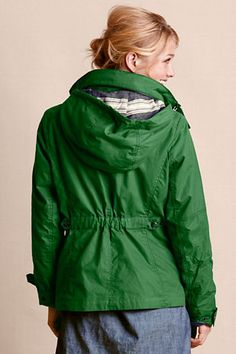 Women's British Millerain® Waxed Canvas Parka from Lands' End Canvas