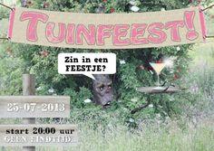 Tuinfeest zelf invullen - Uitnodigingen - Kaartje2go