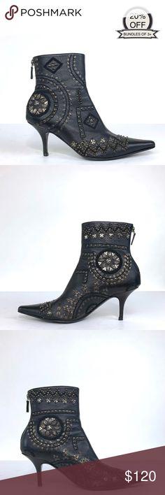 8ef3447cfcfc Oscar De La Renta | Black Heels Ankle Boots | 36.5 Oscar De La Renta Black