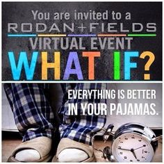 What cha doing tonight at 8pm Central? Join me via FB for a 45 minute Virtual Presentation about Rodan +Fields! No pressure, just the facts! This really is an amazing opportunity that is BLESSING so many on my team! Why not you? Message me and I will add you to this  private event!