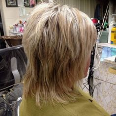 60 Most Universal Modern Shag Haircut Solutions - heavily layered medium shag haircut - Bangs With Medium Hair, Medium Layered Hair, Short Hair With Layers, Medium Hair Cuts, Short Hair Cuts, Medium Hair Styles, Long Hair Styles, Medium Cut, Medium Blonde