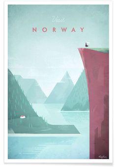 Norway als Premium Poster von Henry Rivers | JUNIQE