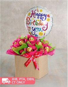 NetFlorist | Buy 24 Pink Heart Chocolate Bouquet Online