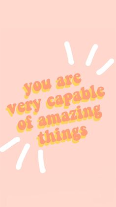 you are capable of amazing things quote words inspire motivation peachy aesthetic vsco Ed Wallpaper, Words Wallpaper, Iphone Background Wallpaper, Aesthetic Iphone Wallpaper, Aesthetic Wallpapers, Pink Wallpaper Quotes, Quote Backgrounds, Iphone Backgrounds, Black Wallpaper