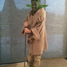 Homemade Yoda costume for my sons Halloween costume this year. Jr. Loves it! Fun putting it all together. Super simple