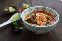 """Thai Tom Yum Goong Recipe: Tom Yum is probably one of the most well-know Thai recipes. It's uniquely Thai and has become so famous that they made a movie with the name """"Tom Yum Goong."""" I kid you not."""