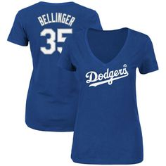 Cody Bellinger Los Angeles Dodgers Majestic Women s Name   Number V-Neck T- Shirt - Royal 5d1bc14304a07