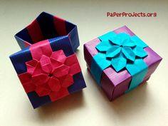Origami Hydrangea Ribbon Box