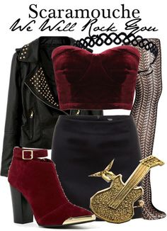 Scaramouche from We Will Rock You inspired outfit from The Broadway Wardrobe