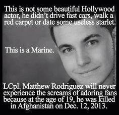 RIP Corporal Rodriguez.